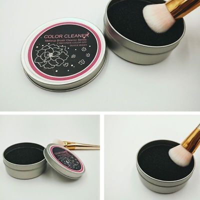 Professional Makeup Brush Color Clean Eyeshadow Sponge Tool Cleaner Remover Box