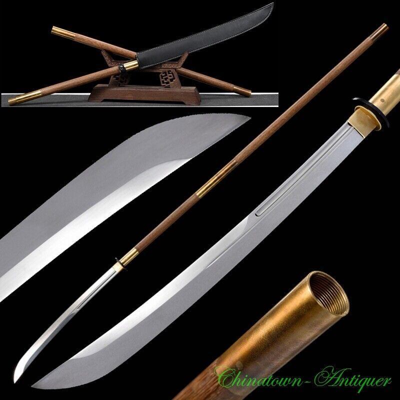 Japanese Youtou Muramasa Naginata Battle Sword T10 Steel Blade Sharp Sabre #3135