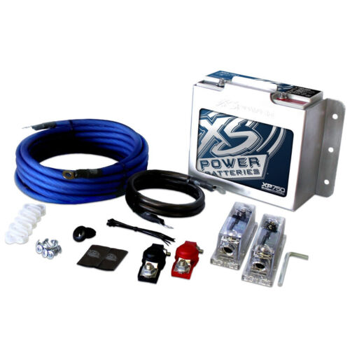 XS Power  XP750-CK XP FLEX, 4 AWG 1000-1500W Install Kit and XP750 Battery Combo