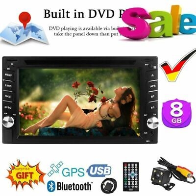 2Din Autoradio Stereo FM DVD MP4 Spieler GPS Navi Navigation Bluetooth Kamera DE ()