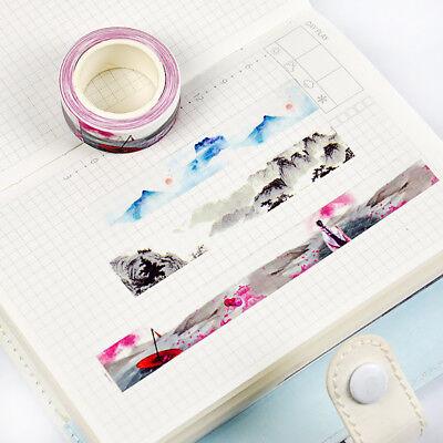 Decorative Tape (Cute Flower Adhesive Washi Tape Kawaii DIY Decorative Masking Tape)