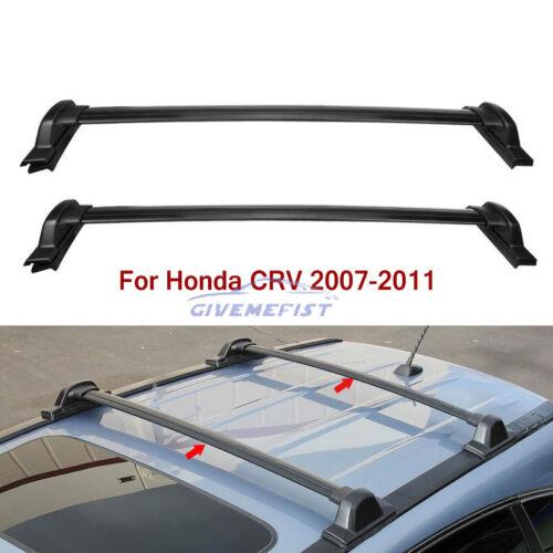 Para 2007 2008 2009 2010 2011 Honda Crv Cr V Baca Barras Cruzadas Portador Negro Ebay