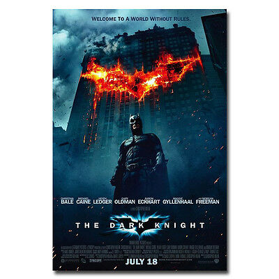 Batman The Dark Knight DC Superhero Movie Silk Poster 12x18 24x36inch Joker 002 - Superhero Poster