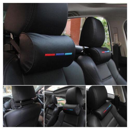 2Pcs PU Leather Car Seat Head Neck Rest Cushion Pad Headrest Pillow Universal