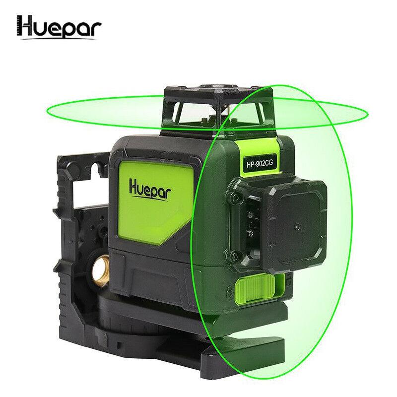 3D  Laser Level 8 Line Green Self Leveling Outdoor 360 Rotar