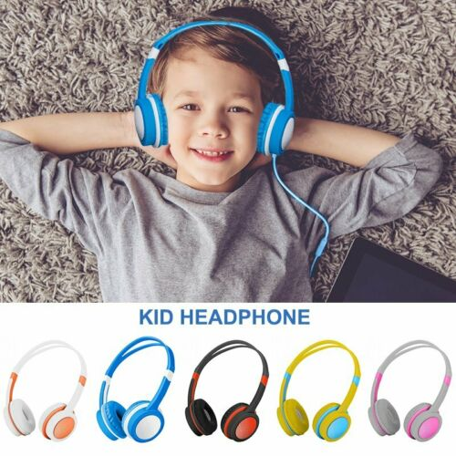 wired boy girl kids headphones safe over