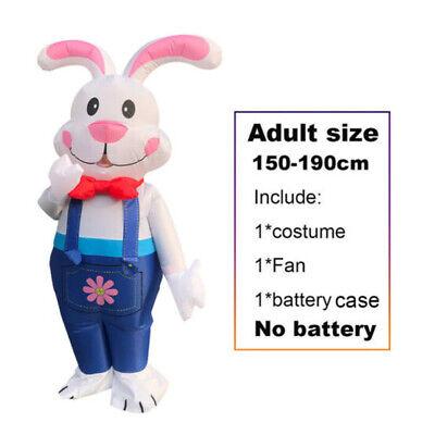 2020Newest Inflatable Rabbit Costume Halloween Blow Up Suit Fancy Dress Adult R7