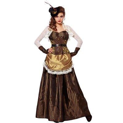 Steampunk Lady viktorianisches Damen Kostüm  XL (46/48) Kleid + Hut Gothic #774 ()
