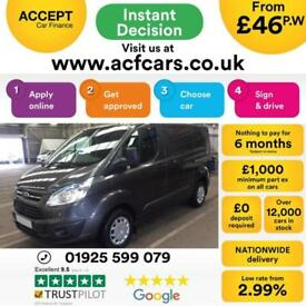 2015 GREY FORD TRANSIT CUSTOM 2.2 TDCI 125 290 SWB TREND CAR FINANCE FR £46 PW