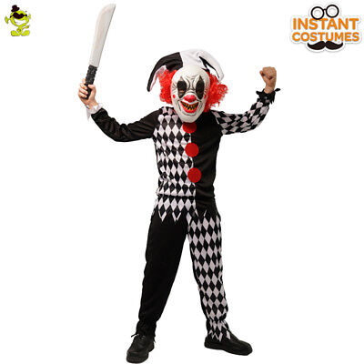 Kids New Evil Kill the Clown Costumes Role Cosplay Scary Dress for Halloween - Scary Costumes For Kid