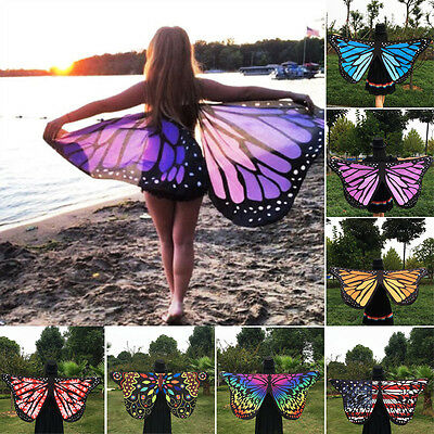 Women Soft Fabric Butterfly Wings Fairy Ladies Nymph Pixie Costume Accessory
