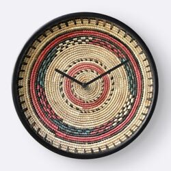 WALL CLOCK based on Exclusive African Hausa Basket Design ~Unique Functional Art