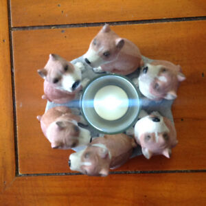 Pit Bull Circle of Dogs Votive Candle Holder