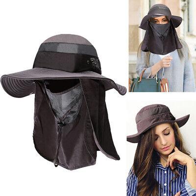 Boundless Voyage Outdoor Fisherman Hat with Removable Mask Anti-droplets Anti-virus Anti-dust Men Women Unisex Wide Brim Cap