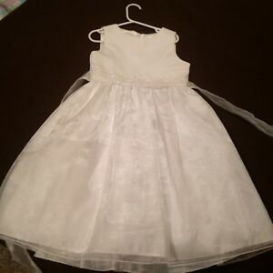First Communion or Flower Girl Dress and Sweater