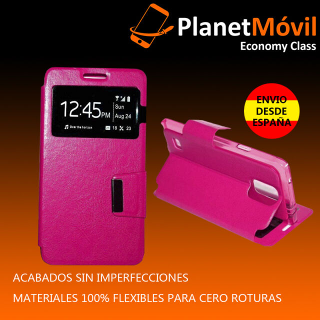 COVER COVER BOOK WITH WINDOW HUAWEI ASCEND P9 LITE ON PINK LEATHER SYNTHETIC P 9