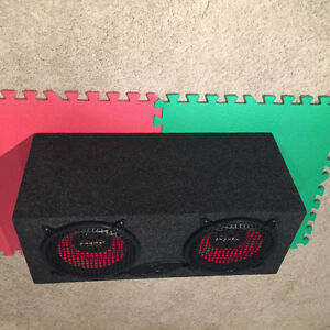 "Dual Subwoofer Box with Two 10"" Sony Xplod Speakers Regina Regina Area image 2"