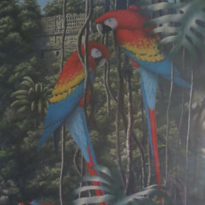 Limited Edition Picture Print Scarlet Macaws 58/500 F.P. Bennett Kitchener / Waterloo Kitchener Area image 3