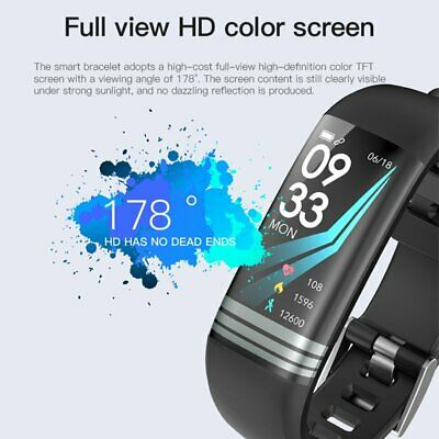 Color Screen Sports Fitness Heart Rate Blood Pressure Smart Watch Wrist Band