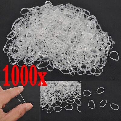 - 1000PCS Elastic Hair Bands Braiding Rubber Band Tiny Poly Small Hair Rope Hot