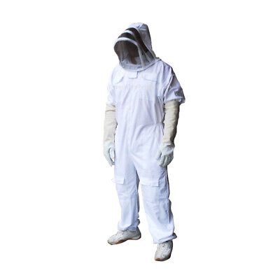 Bee Suit Full Protection Honey Bee Beekeeping Free Gloves Small Size
