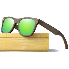 Men's & Women's Vintage Handmade natural wooden sunglasses with free shipping