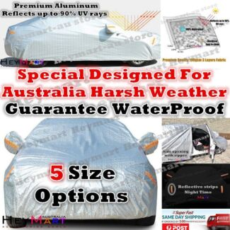 Aluminum waterproof Double thicker n car cover rain resistant UV