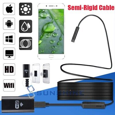 8mm 8led Wifi Borescope Endoscope Snake Inspection Camera For Iphone Android Ios