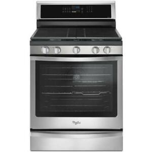 Whirlpool Stainless Steel Freestanding Gas Range|WFG745H0FS Freestanding with EZ-2-Lift Hinged Grates(BD-952)