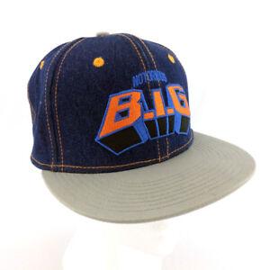 Notorious BIG Hat Biggie Smalls Denim Blue Jean Cap Hip Hop