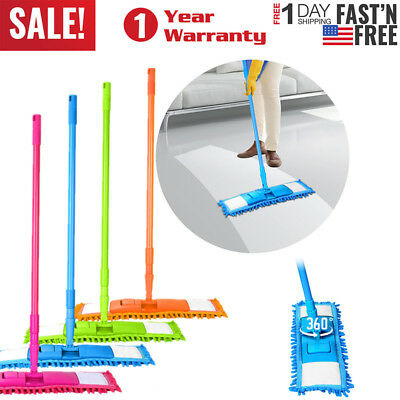 - Microfiber Mop Hardwood Floor Dust Hairs Cleaning 360° Washable Refill Pads Kit
