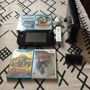 Wii U 32GB with 6 games, Wii remote, nunchuk, 2GB SD card London Ontario image 1