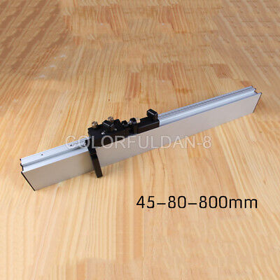 1X Woodworking Tool Miter Gauge Aluminium Fence 800mm with Micro Adjustable Stop Adjustable Aluminum Router Table