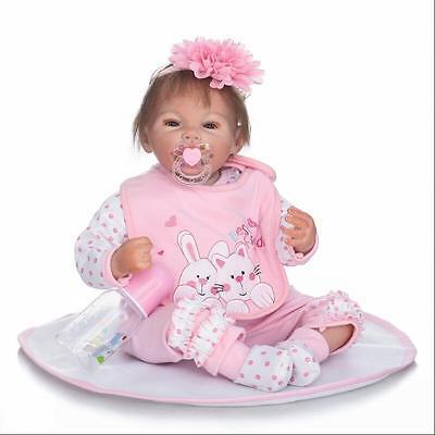 "20"" Realistic Handmade Reborn Baby Doll Girl Newborn Lifelike Vinyl Silicone New"