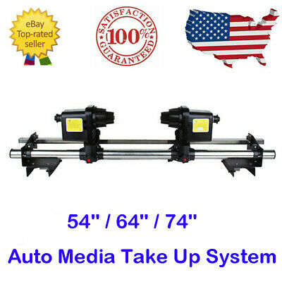 54 64 74 Automatic Media Take Up Reel Two Motors For Roland Mimaki Epson