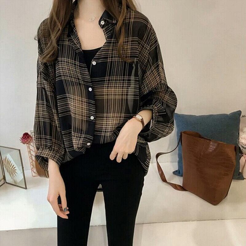 Autumn Women/'s Plus Size Casual Loose Ladies Pullover Jumper T Shirt Tops Blouse