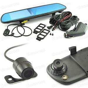 front rear car camera rearview mirror monitor video recorder 1080p hd dash cam. Black Bedroom Furniture Sets. Home Design Ideas