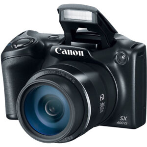 @-new Canon PowerShot 16MP 30x Optical Zoom Digital Camera black