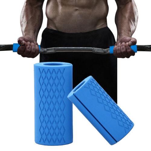 1Pair Dumbbell Bar Handle Grips Standard Bar Grips Arm Chest Workout Machines Fitness, Running & Yoga