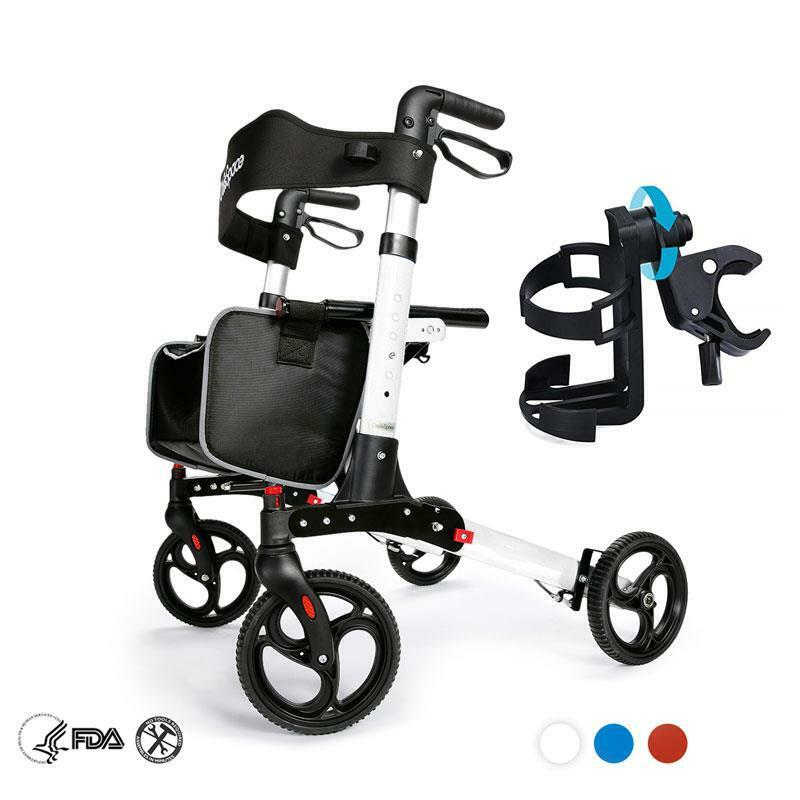 Medical Rollator Walker Foldable Rolling Walker Mobility with Seat Cup Holder US