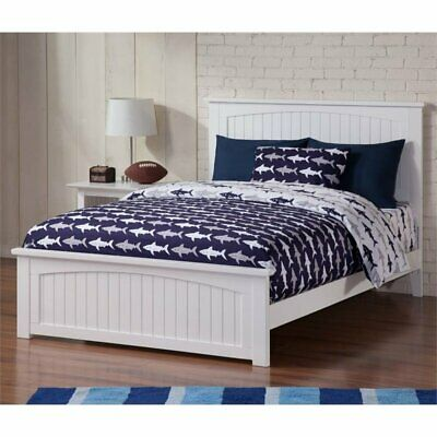 Atlantic Furniture Nantucket Full Panel Bed in White