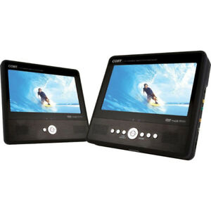 """Coby TFDVD7750 7"""" Tablet Style DVD with Dual Screen"""