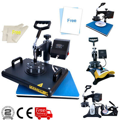 5in1 Heat Press Machine 110pcs Sublimation Paper For T-shirt Hat Plate Cap Mug