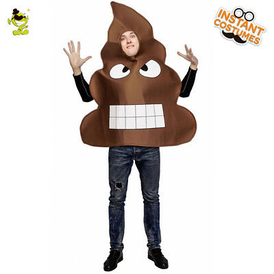 Men's Poop Emoji Costume Adult Angry Poop Emoticon For Carnival Party