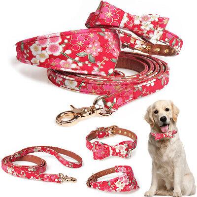 Hunde Halsband PU Kunstleder Bogen Dreieckschal Kragen mit Halstuch Verstellbar Hund Tuch Kragen