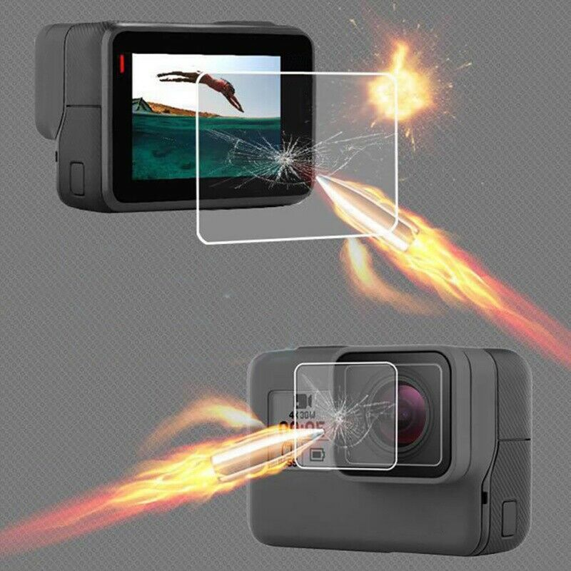 For Go pro Hero 7 6 5 Camera Real Tempered  Screen Protector Glass Lens Cover