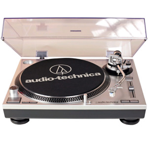 Audio technica at lp120 record player turntable with 2 needles