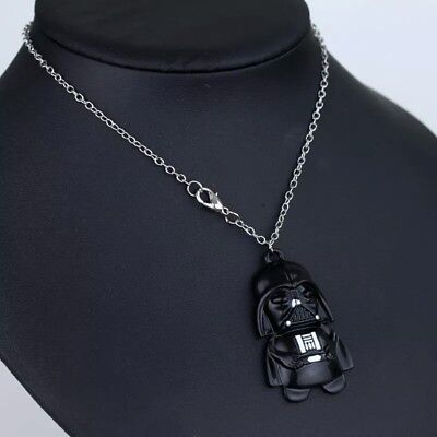 Lovely Silver Tone Star Wars Darth Vader Necklace. Stunning. In Organza Gift Bag
