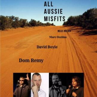 COMEDY PERTH FRINGE- ALL AUSSIE MISFITS