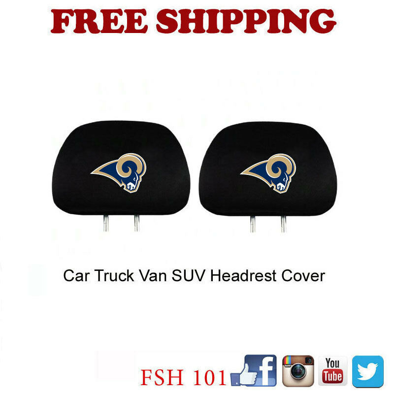 New 2pc Set NFL Pick Your Team Car Truck SUV Van Headrest Covers Automotive Gear